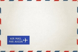 Airmail Envelope isolate on white background