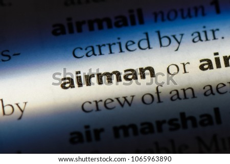 airman word in a dictionary. airman concept.