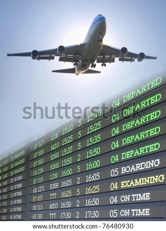 Airplane and flight schedule