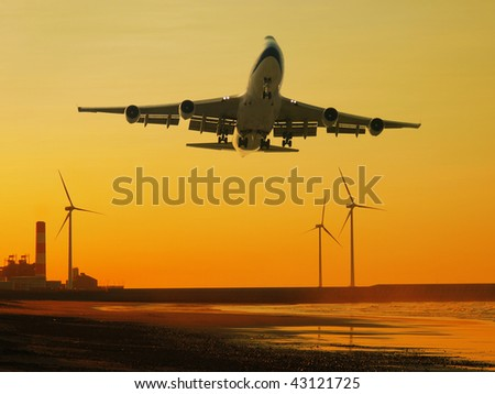 Airplane and wind power generator