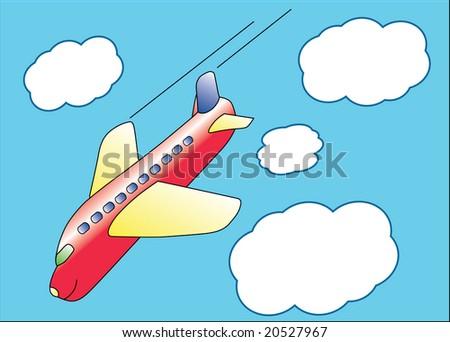 airplane cartoon illustration