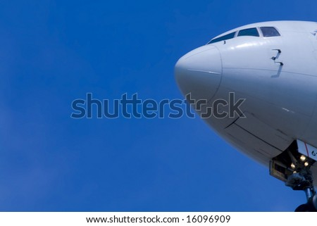 airplane close up