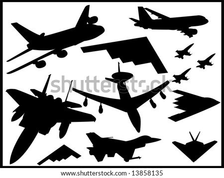 airplane collection vectors