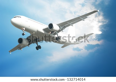 airplane flying in the air