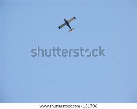 airplane in the ble sky