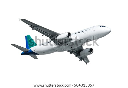 airplane isolated on white...