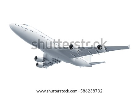 Airplane isolated on white background - 3D Rendering