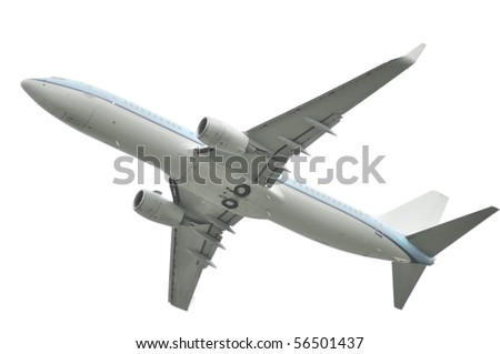 Airplane on a white background
