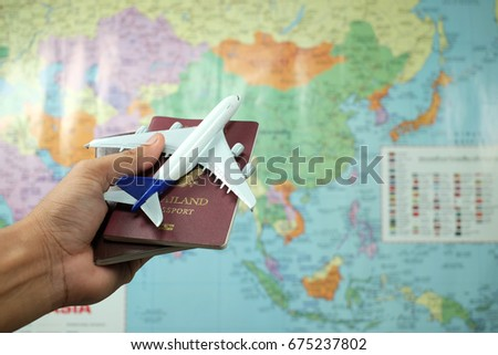 airplane passport flight travel traveller fly travelling citizenship air concept  - Shutterstock ID 675237802