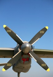 Airplane propeller from a military transport plane