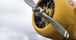 Airplane propeller nose engine