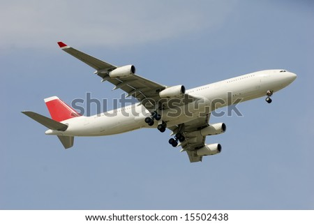 Plane Tail on Airplane Red Tail Stock Photo 15502438   Shutterstock