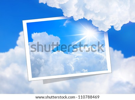 airplane sky cloud sun travel - stock photo