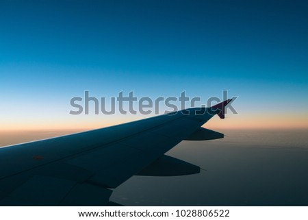 Airplane, Sky, Travel, Abroad #1028806522