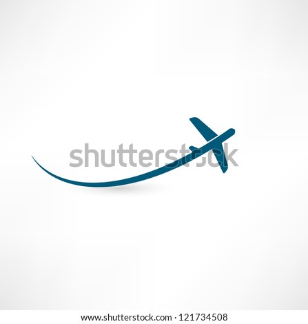 airplane symbol - stock photo