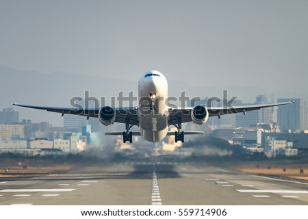 airplane taking off from the...