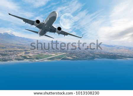 Airplane taking off - Travel by air transport #1013108230