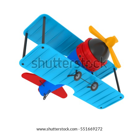 Airplane Toy Isolated. 3D rendering
