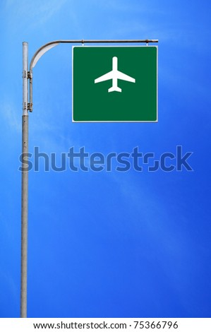 airplane traffic sign