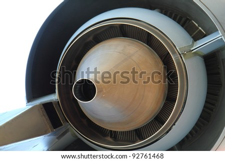 airplane turbine background