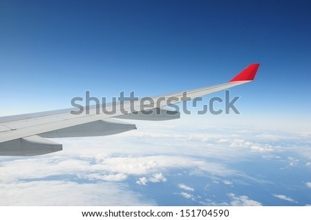 Airplane Wing - Air Travel Theme
