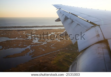 Airplane Wing and Marsh