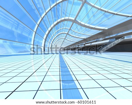 Airport Architecture. 3D rendered Illustration.