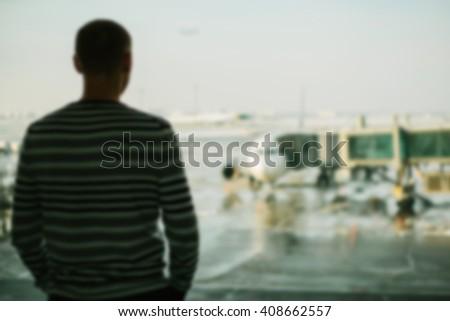 Airport. Blur. Background. - Shutterstock ID 408662557