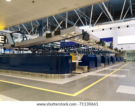 Airport Check-in Counters