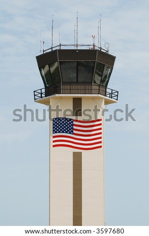 Airport control tower in Naples, Florida