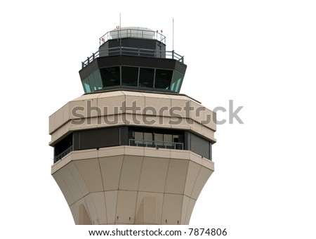 Airport control tower - isolated