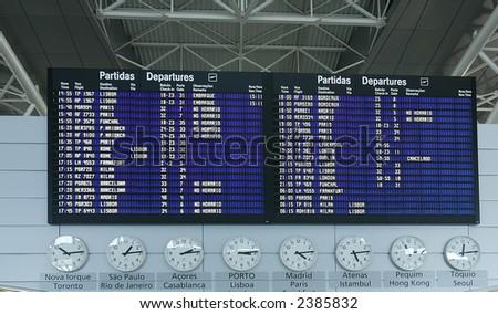 Airport Departure Board Information