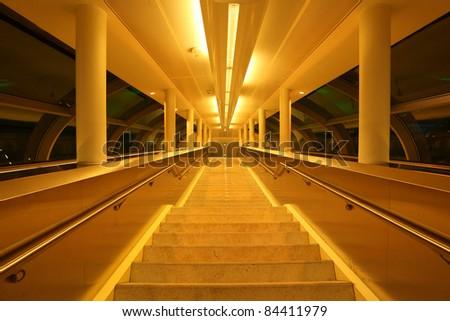 Airport gangway in Dubai, United Arab Emirates #84411979
