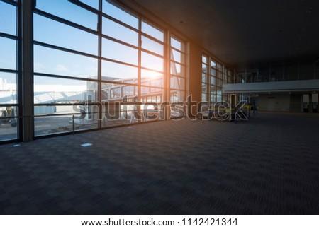 airport glass corridor #1142421344