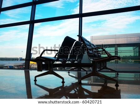 airport interior at morning