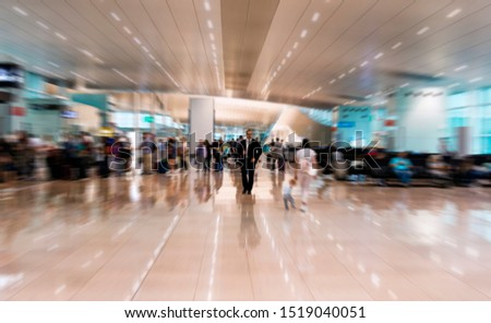 airport interior with motion blur, motion effect #1519040051