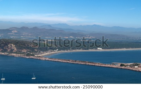 airport Mazatlan, Sonora, Mexico as viewed from the el Faro Lighthouse -  looking southeast Panorama pic 6 of 8