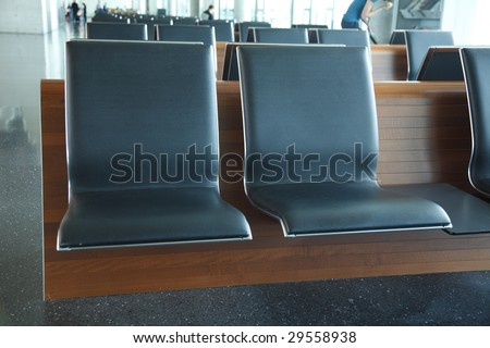 Airport, modern designed waiting area