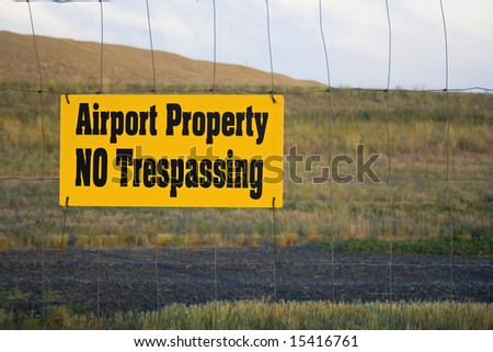 Airport Property - stock photo