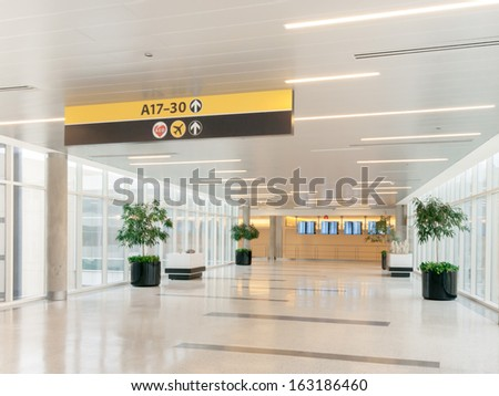 airport scene and connected terminals