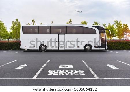 Airport Shuttle Service Bus Coach ストックフォト ©
