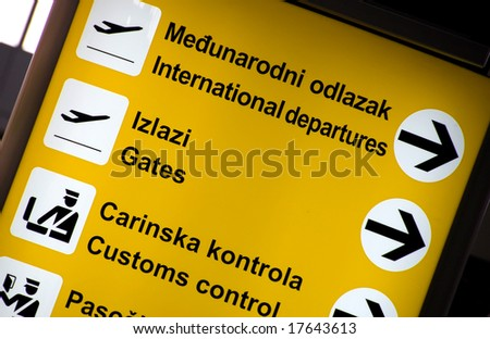 Airport sign - Flight Information Board