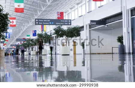 Airport Terminal blurred people