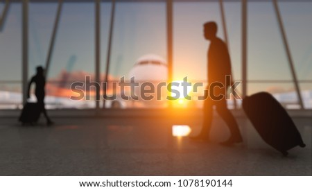 Airport Terminal Stock Video Clip Footage HD