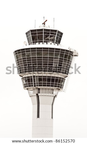 airport tower for the safety of the airplane