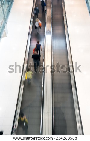 Airport & Train station Blur people movement in rush hour