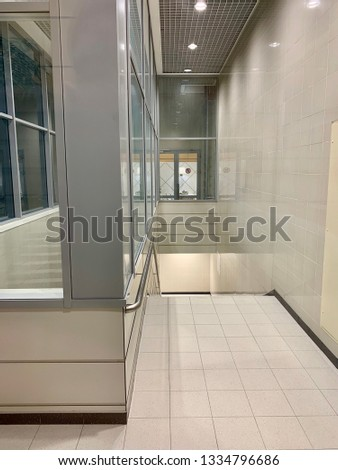 Airport waiting halls and corridors interior #1334796686
