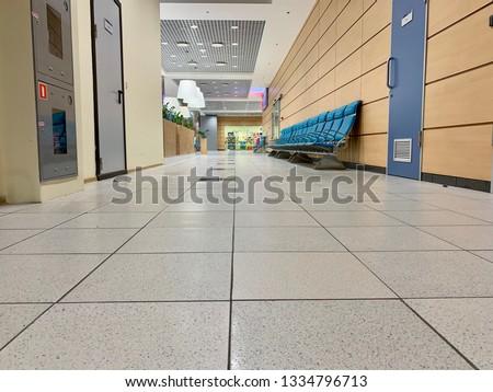 Airport waiting halls and corridors interior #1334796713