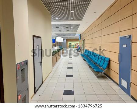 Airport waiting halls and corridors interior #1334796725