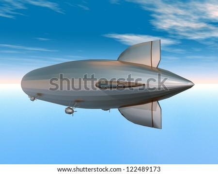 Airship Computer generated 3D illustration - stock photo